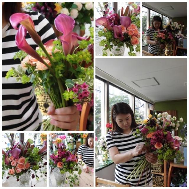 リクエストレッスン生花の花束