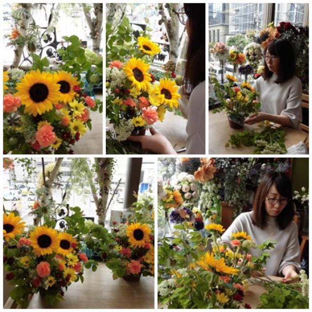 新緑の季節初夏のフラワーアレンジレッスン
