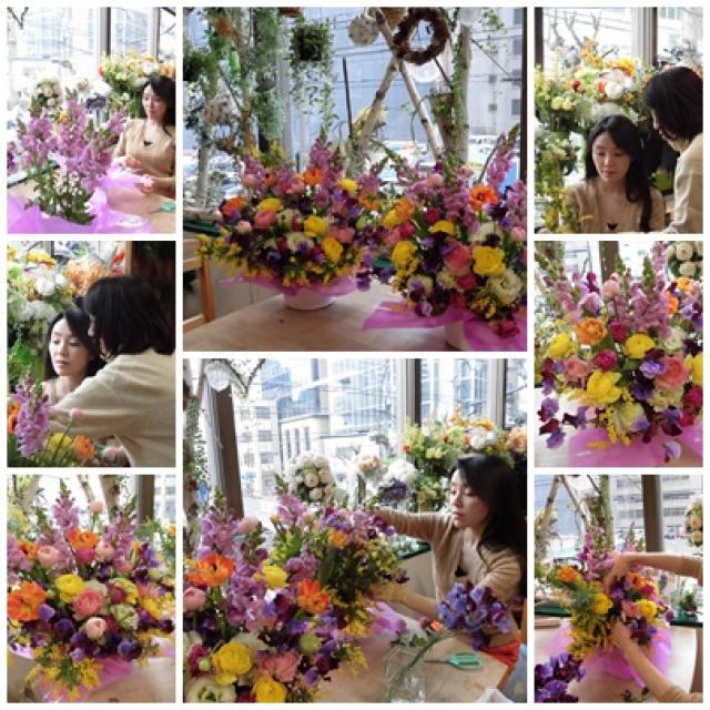 リクエストレッスン♪春の花いっぱいのお誕生日プレゼント